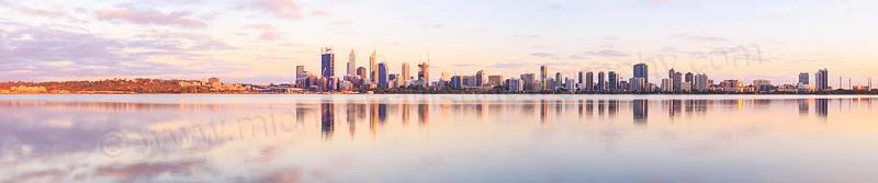 Perth and the Swan River at Sunrise, 6th November 2014