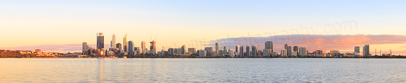 Perth and the Swan River at Sunrise, 11th November 2014