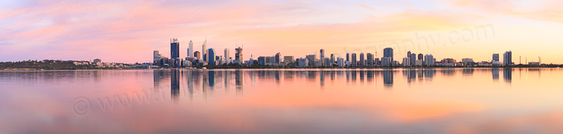 Perth and the Swan River at Sunrise, 16th November 2014