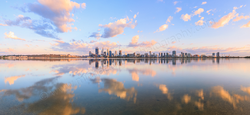 Perth and the Swan River at Sunrise, 18th November 2014