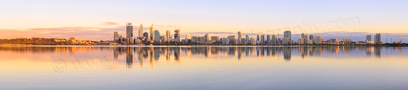 Perth and the Swan River at Sunrise, 19th November 2014