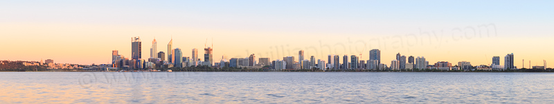 Perth and the Swan River at Sunrise, 20th November 2014