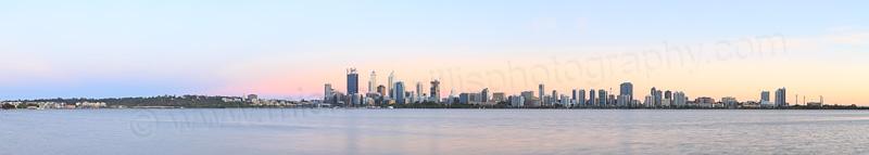 Perth and the Swan River at Sunrise, 25th November 2014