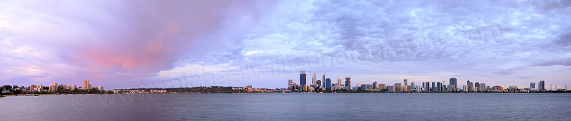 Perth and the Swan River at Sunrise, 26th November 2014