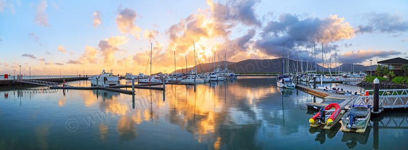 Cairns Marlin Marina at Sunrise, 8th August 2014