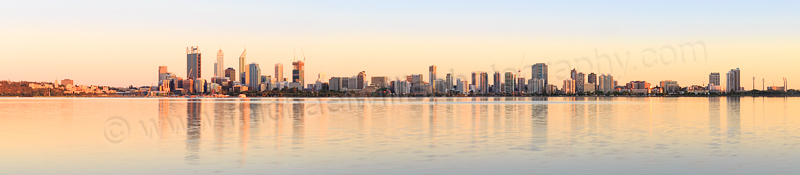 Perth and the Swan River at Sunrise, 30th November 2014