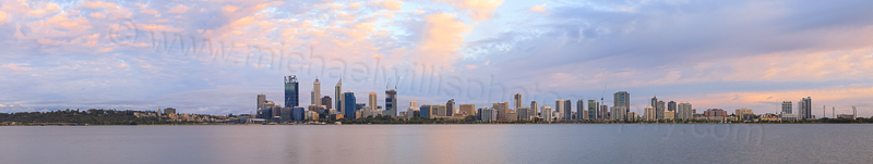 Perth and the Swan River at Sunrise, 1st December 2014