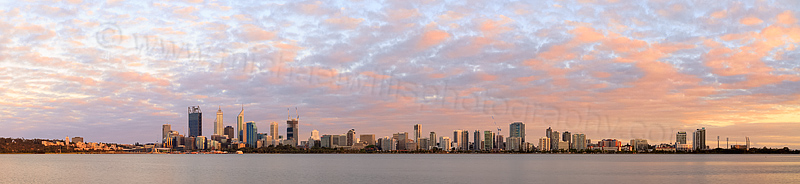 Perth and the Swan River at Sunrise, 2nd December 2014