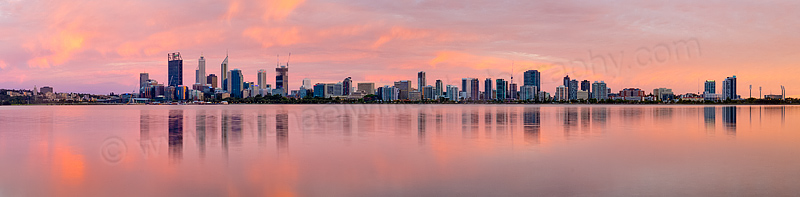 Perth and the Swan River at Sunrise, 3rd December 2014
