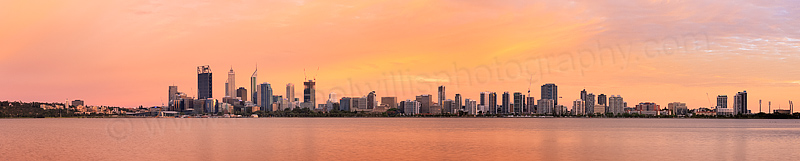 Perth and the Swan River at Sunrise, 5th December 2014