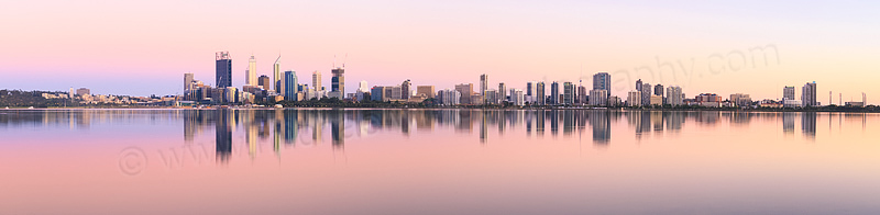 Perth and the Swan River at Sunrise, 6th December 2014