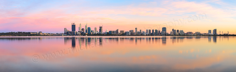 Perth and the Swan River at Sunrise, 7th December 2014