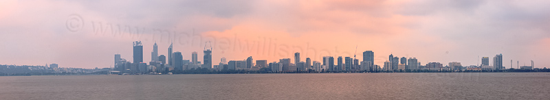 Perth and the Swan River at Sunrise, 8th December 2014