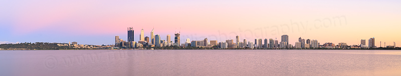 Perth and the Swan River at Sunrise, 9th December 2014