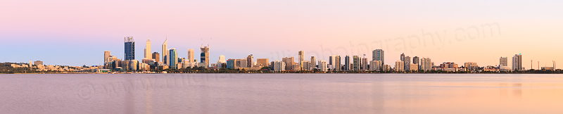 Perth and the Swan River at Sunrise, 10th December 2014