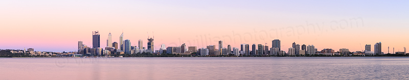 Perth and the Swan River at Sunrise, 11th December 2014