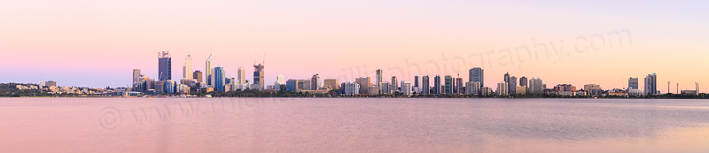 Perth and the Swan River at Sunrise, 13th December 2014
