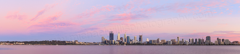 Perth and the Swan River at Sunrise, 14th December 2014