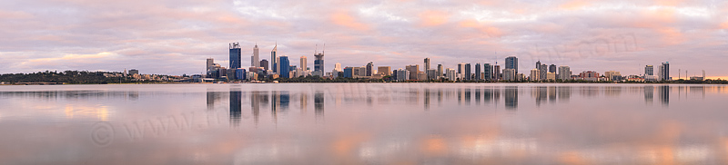 Perth and the Swan River at Sunrise, 15th December 2014