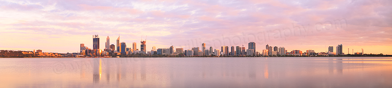 Perth and the Swan River at Sunrise, 17th December 2014