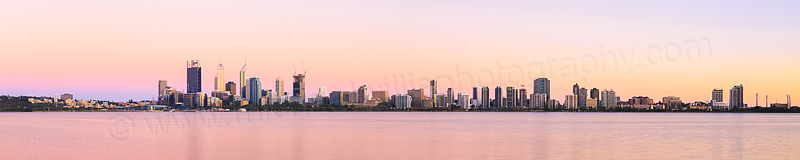 Perth and the Swan River at Sunrise, 18th December 2014