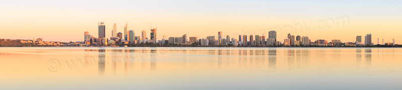 Perth and the Swan River at Sunrise, 19th December 2014