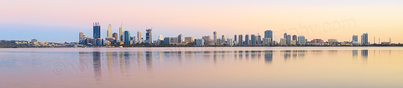 Perth and the Swan River at Sunrise, 20th December 2014