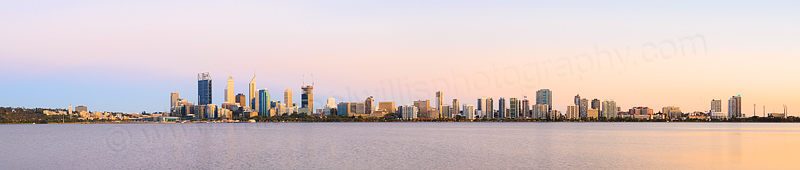 Perth and the Swan River at Sunrise, 21st December 2014