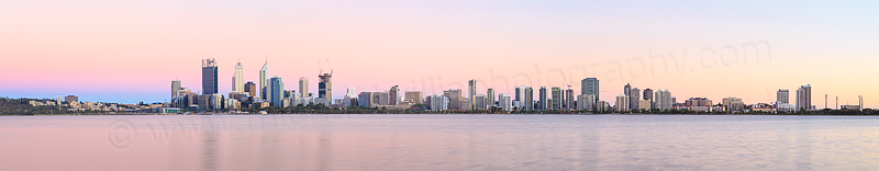 Perth and the Swan River at Sunrise, 22nd December 2014