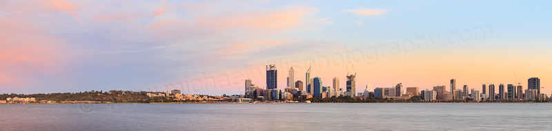 Perth and the Swan River at Sunrise, 23rd December 2014
