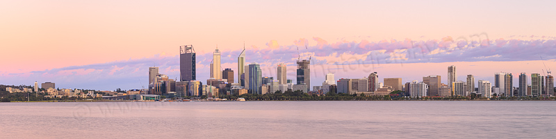 Perth and the Swan River at Sunrise, 24th December 2014
