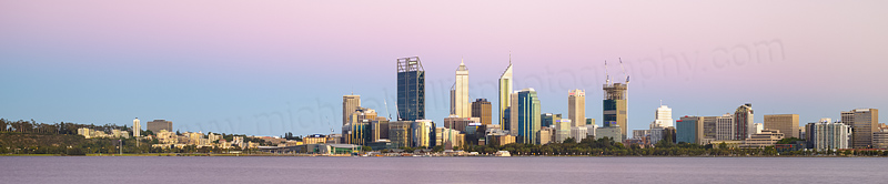 Perth and the Swan River at Sunrise, 25th December 2014