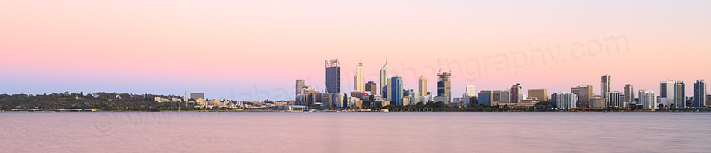 Perth and the Swan River at Sunrise, 26th December 2014