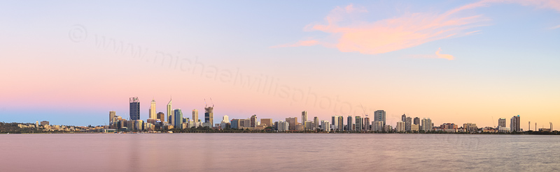 Perth and the Swan River at Sunrise, 27th December 2014