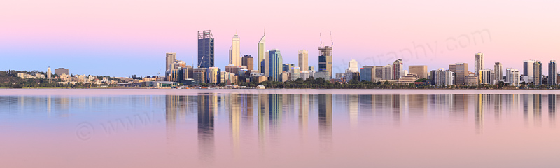 Perth and the Swan River at Sunrise, 29th December 2014