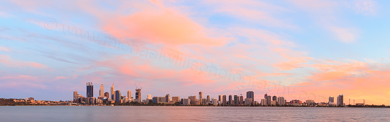 Perth and the Swan River at Sunrise, 30th December 2014