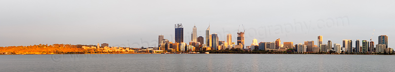 Perth and the Swan River at Sunrise, 31st December 2014