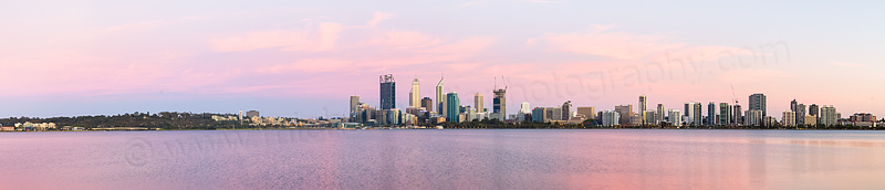 Perth and the Swan River at Sunrise, 3rd January 2015