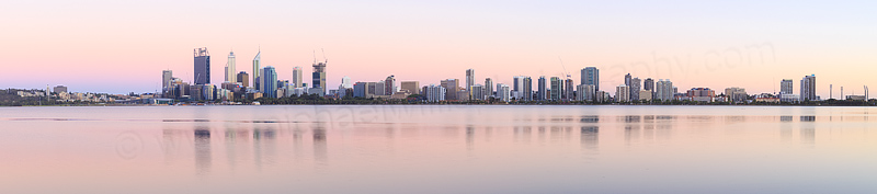 Perth and the Swan River at Sunrise, 4th January 2015
