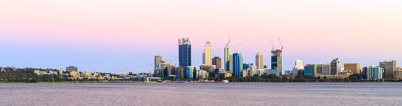 Perth and the Swan River at Sunrise, 8th January 2015