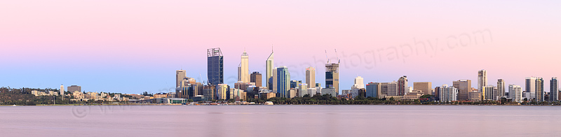 Perth and the Swan River at Sunrise, 11th January 2015
