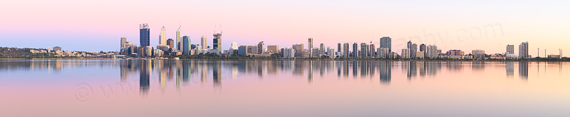 Perth and the Swan River at Sunrise, 13th January 2015