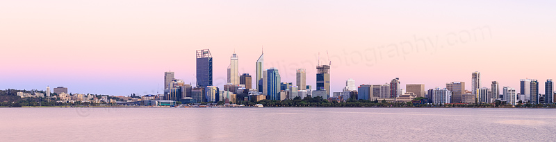 Perth and the Swan River at Sunrise, 15th January 2015