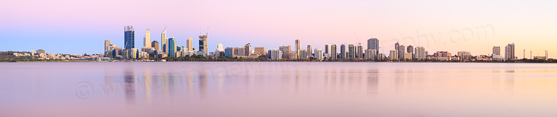 Perth and the Swan River at Sunrise, 16th January 2015