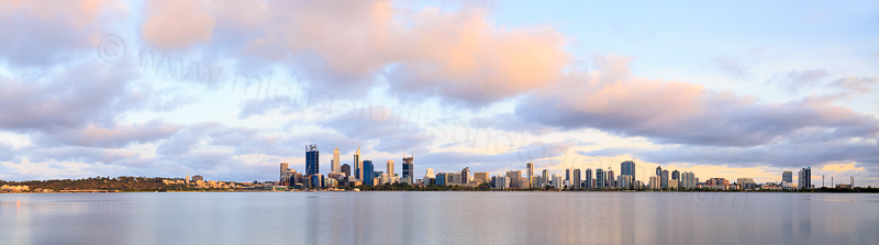 Perth and the Swan River at Sunrise, 19th January 2015