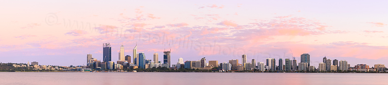 Perth and the Swan River at Sunrise, 23rd January 2015