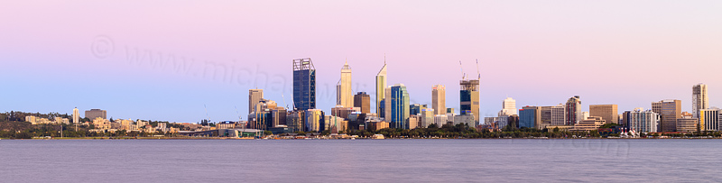 Perth and the Swan River at Sunrise, 25th January 2015