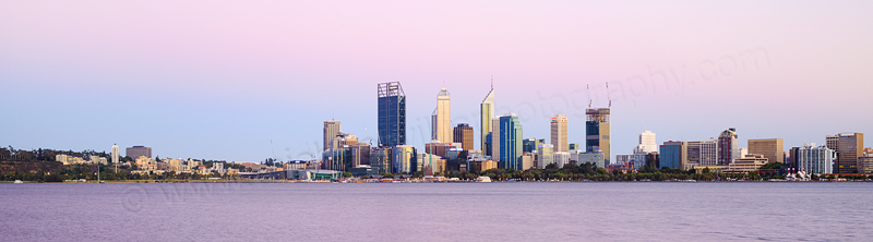 Perth and the Swan River at Sunrise, 26th January 2015