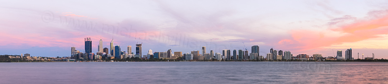 Perth and the Swan River at Sunrise, 2nd February 2015