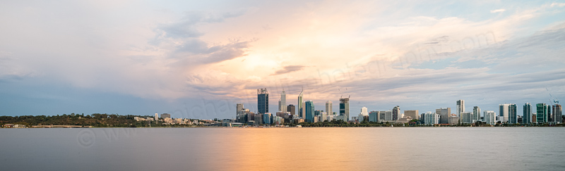 Perth and the Swan River at Sunrise, 3rd February 2015